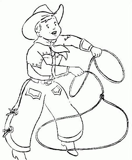 - Cowboy foglio da colorare ...
