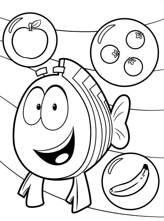 Bubble guppies da colorare 8