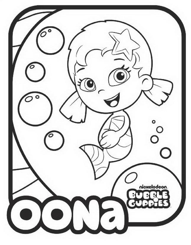 Bubble guppies da colorare 32