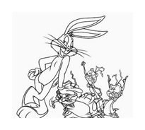 Bugs bunny da colorare 51