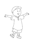 Caillou da colorare 24