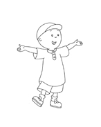 Caillou da colorare 104