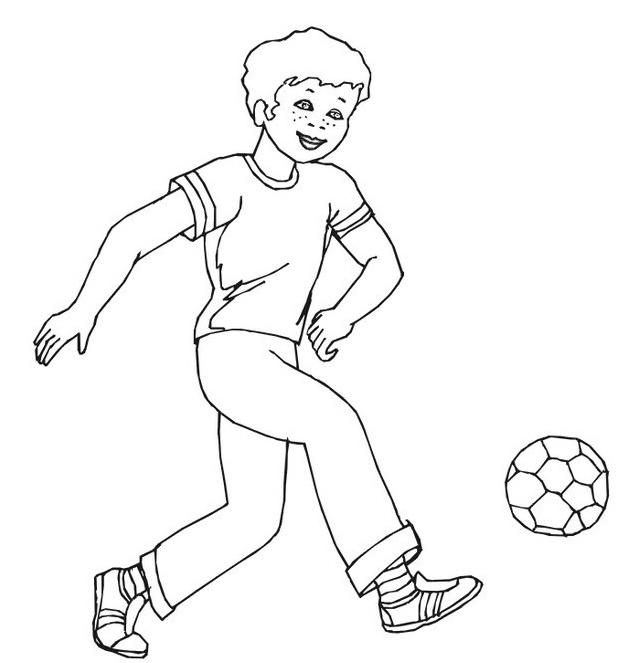 Calcio da colorare 11