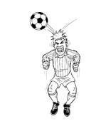 Calcio da colorare 44