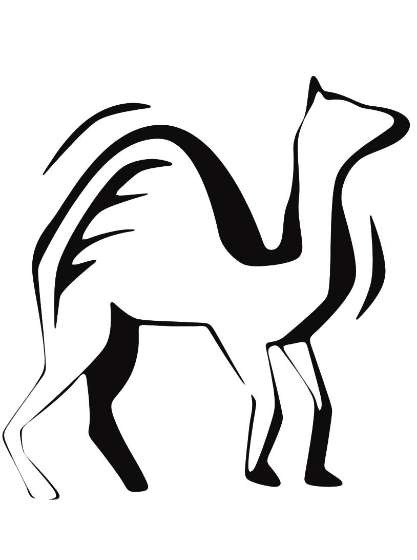 Camello da colorare 12
