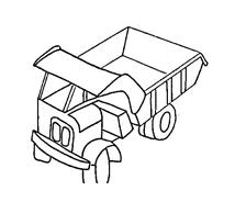 Camion da colorare 4