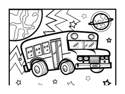 Camion da colorare 7