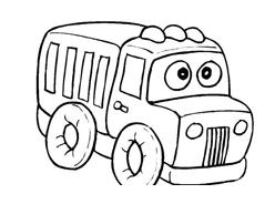 Camion da colorare 8