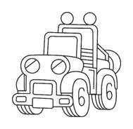Camion da colorare 16