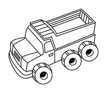 Camion da colorare 17