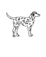 Cane da colorare 15