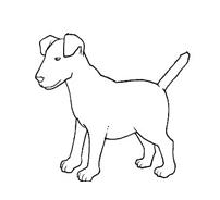 Cane da colorare 105