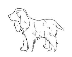 Cane da colorare 106