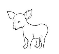 Cane da colorare 108