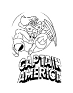 Capitan america da colorare 16