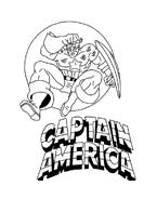 Capitan america da colorare 33