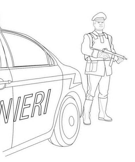 Carabiniere da colorare 5