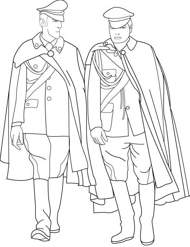Carabiniere da colorare 7