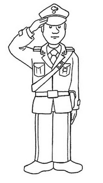 Carabiniere da colorare 11