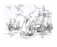 Nave e barca da colorare 38