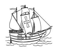 Nave e barca da colorare 39