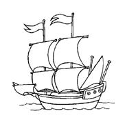 Nave e barca da colorare 40
