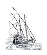 Nave e barca da colorare 41
