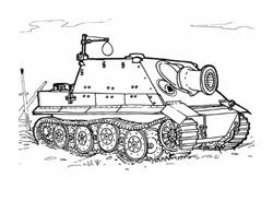 Carro armato da colorare 14
