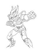 Cavalieri zodiaco da colorare 5