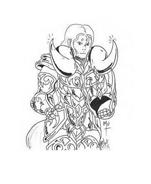 Cavalieri zodiaco da colorare 11