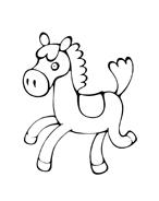 Cavallo da colorare