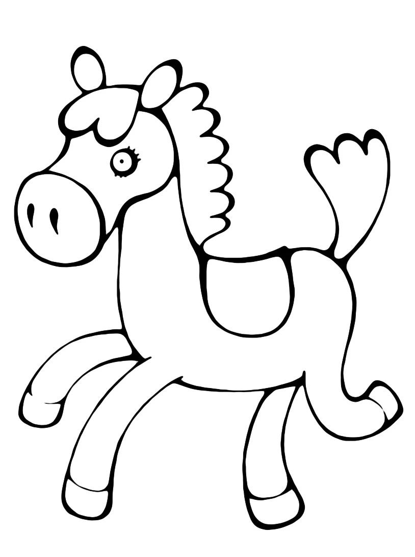 Cavallo Da Colorare Per Bambini.Disegnidacolorare It