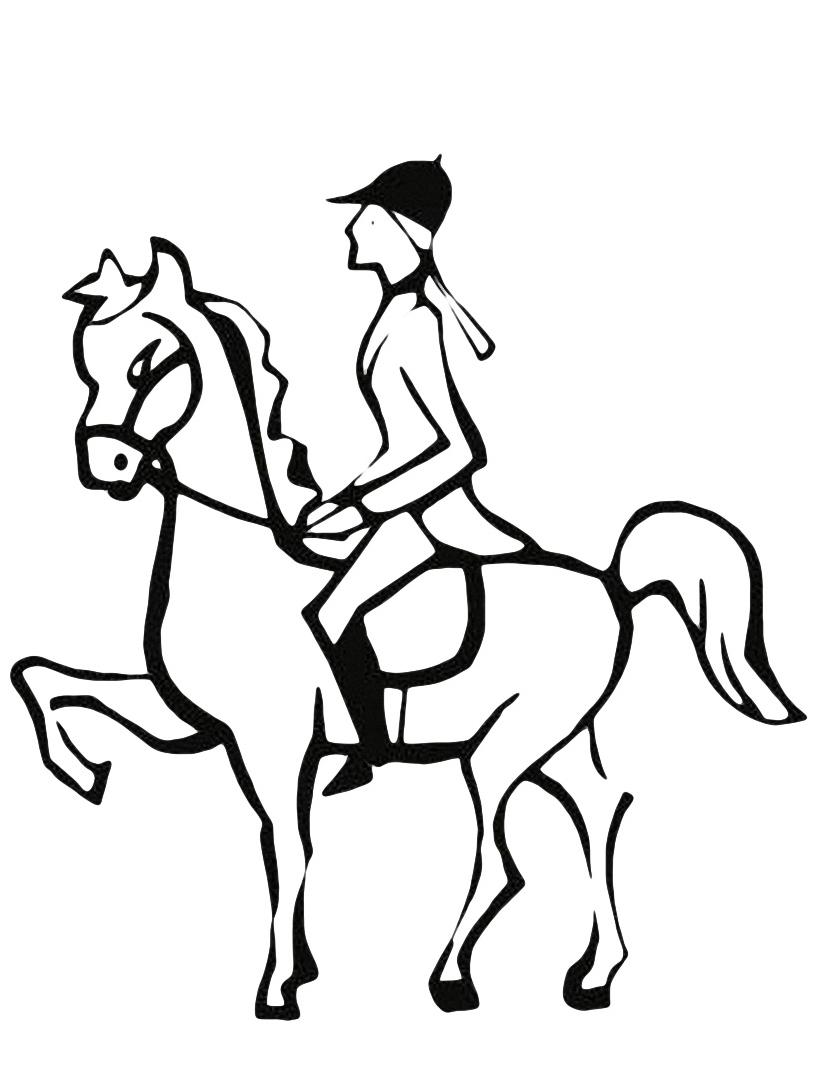 Cavallo da colorare 6