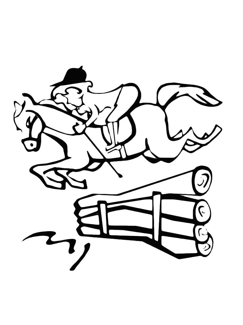 Cavallo da colorare 8