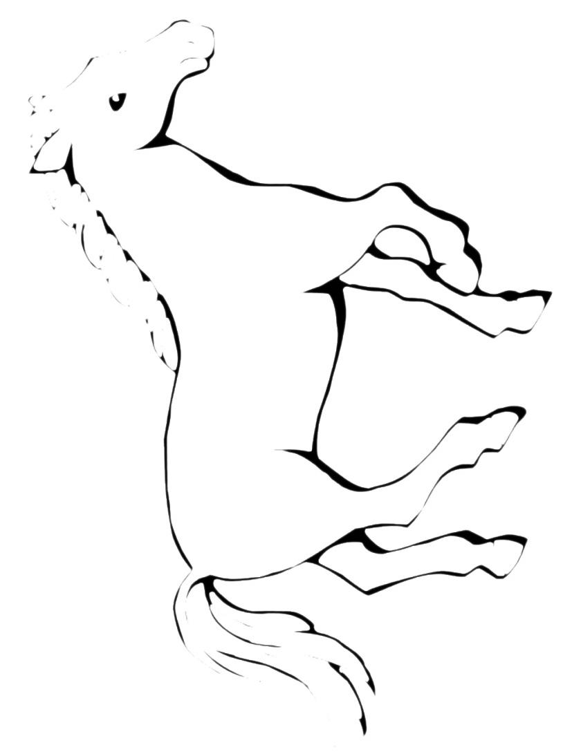 Cavallo da colorare 17