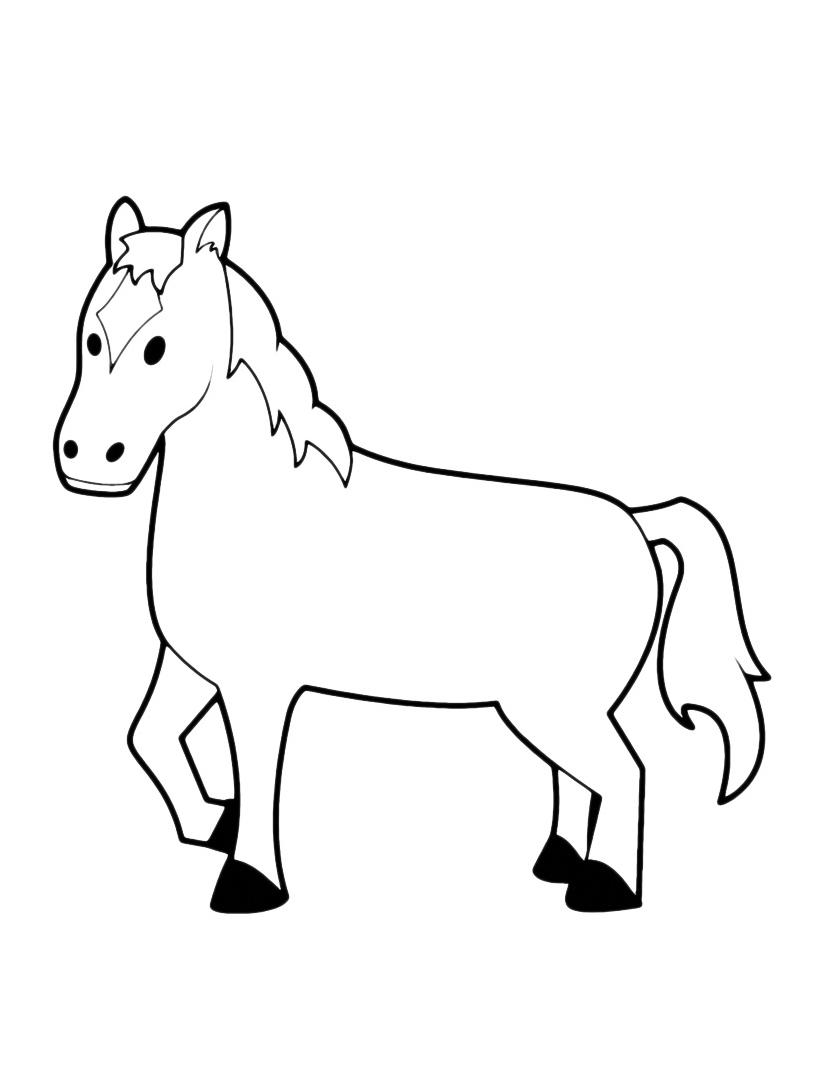 Cavallo da colorare 31