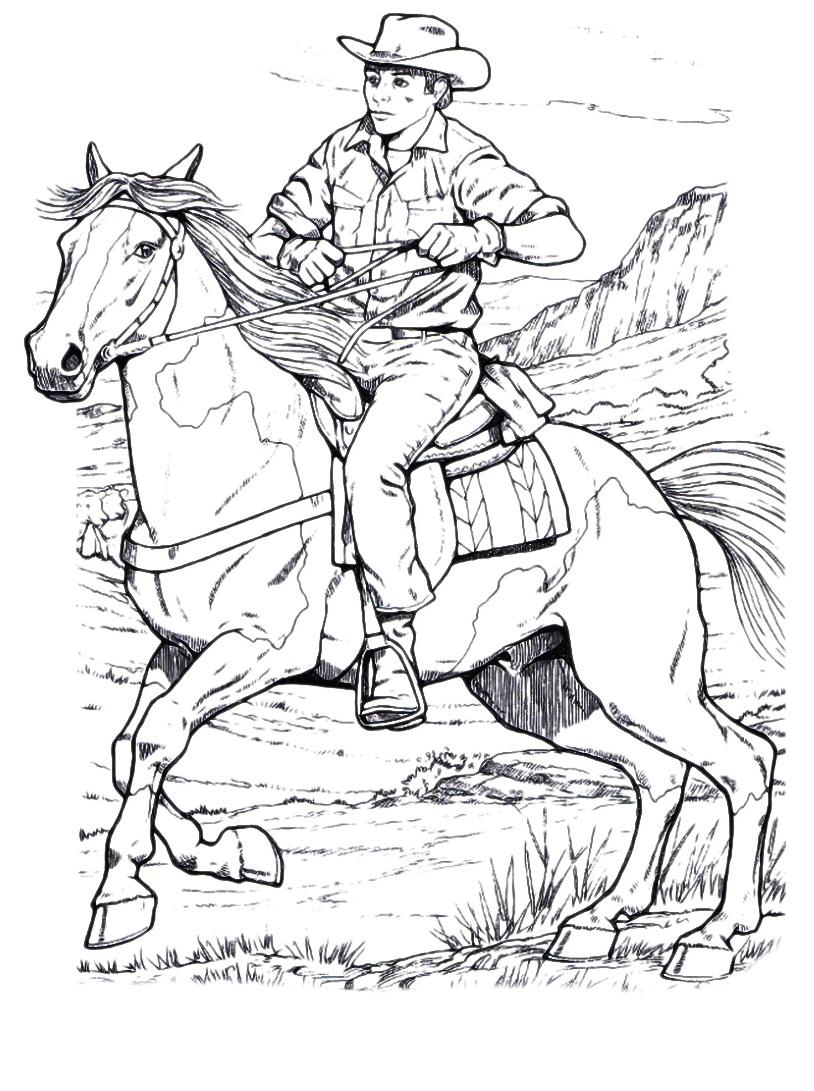 Cavallo da colorare 35
