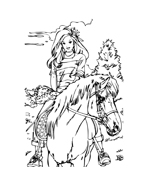 Cavallo da colorare 37