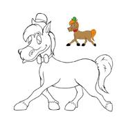 Cavallo da colorare 38