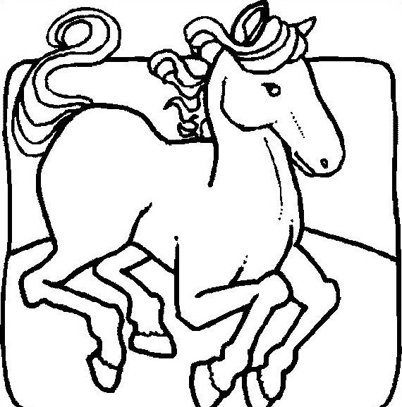Cavallo da colorare 43
