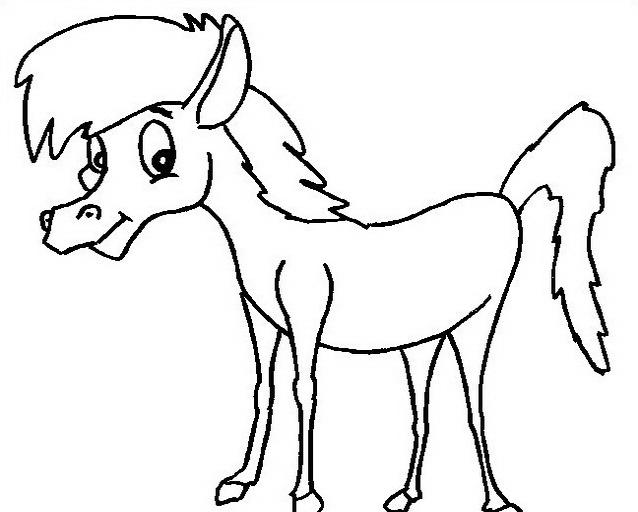 Cavallo da colorare 44