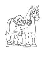 Cavallo da colorare 66
