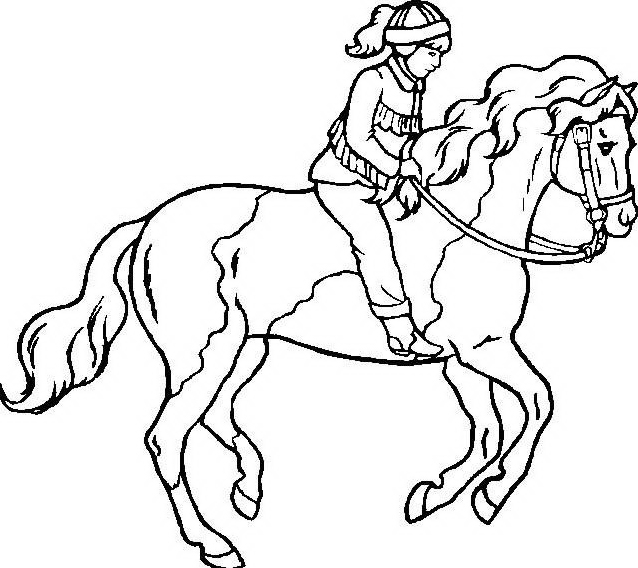 Cavallo da colorare 74