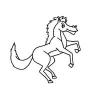Cavallo da colorare 79