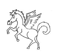 Cavallo da colorare 87