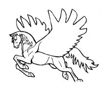 Cavallo da colorare 91