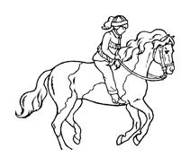 Cavallo da colorare 107