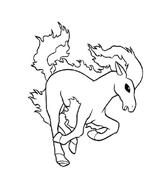 Cavallo da colorare 110