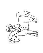 Cavallo da colorare 148