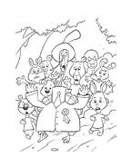 Chicken little – Amici per le penne da colorare 155